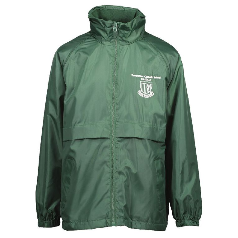 Schooltex Pompallier Catholic Jacket with Embroidery, Bottle Green, hi-res