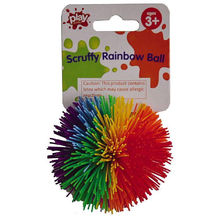 Play Studio Scruffy Rainbow Ball 7cm Assorted, , hi-res