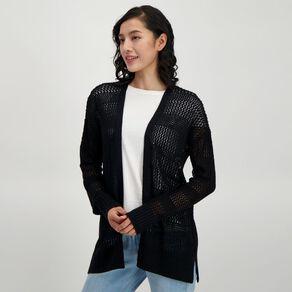 H&H Women's Long Sleeve Crochet Cardi