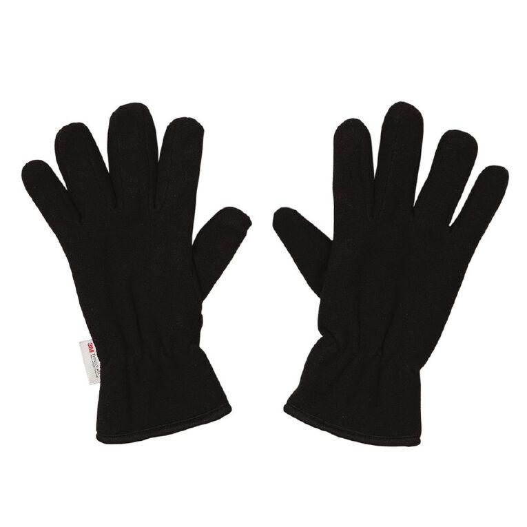 H&H Fleece Gloves, Black, hi-res