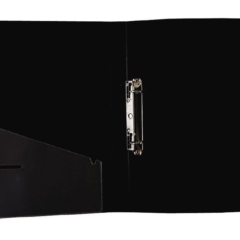 Office Supply Co Ringbinder Mini 16mm 2D Black A4, , hi-res