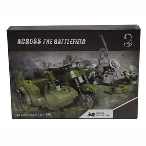 Across the Battlefield Sidecar Motorcycle 236 Pieces Building Bricks