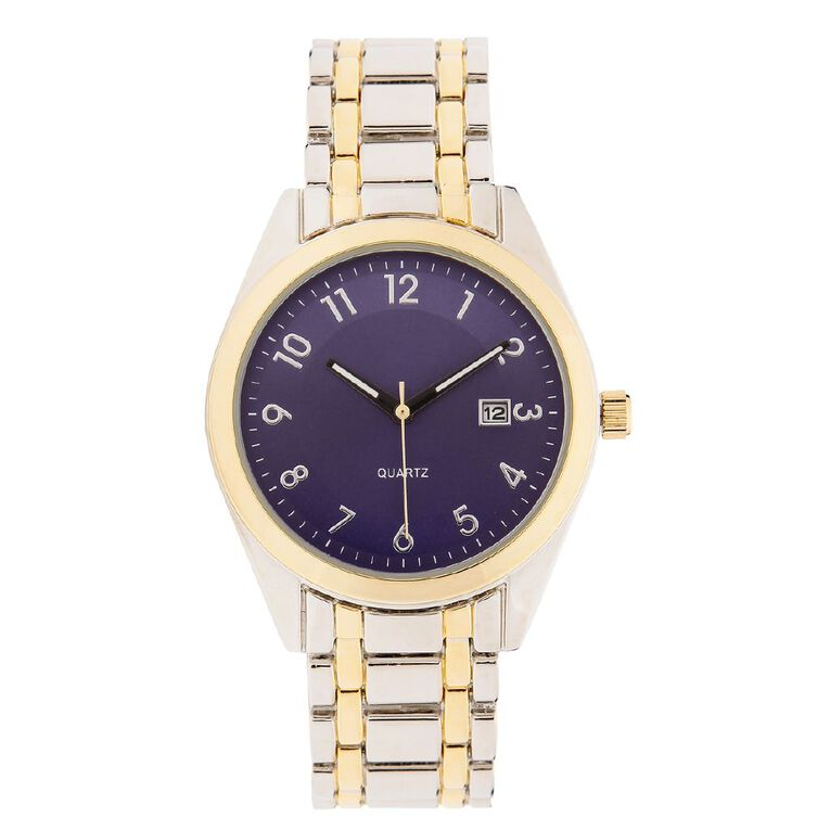 Eternity Men Classic Analogue Steel Watch Silver Gold, , hi-res