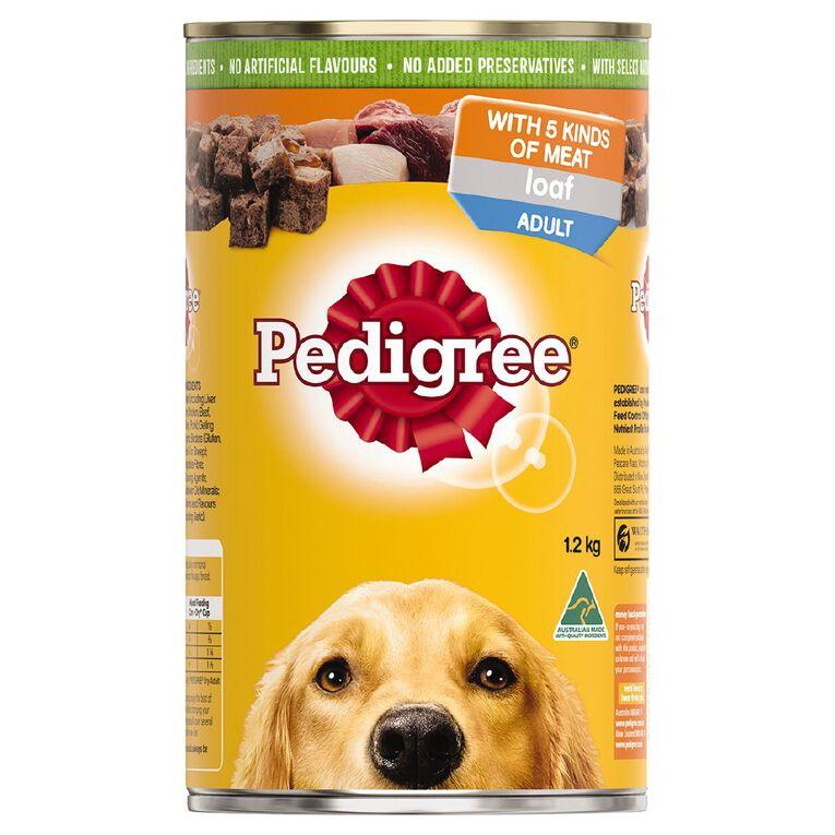 Pedigree Adult Wet Dog Food 5 Kinds Of Meat Loaf 1.2kg Can, , hi-res