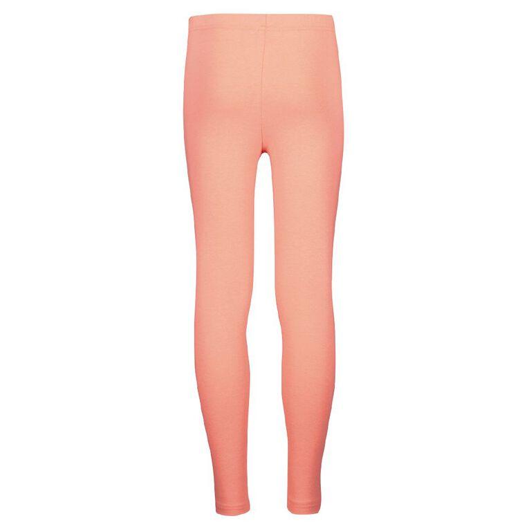 Young Original Girls' Plain Leggings, Pink Mid, hi-res image number null