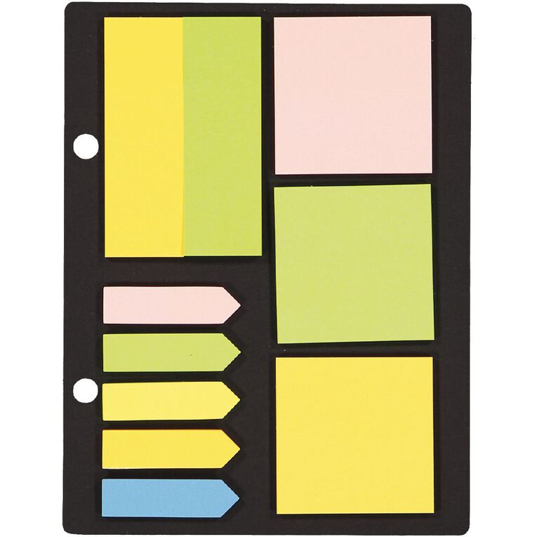 Impact Sticky Note & Flag Set Neon Color 10 Piece 35 Sheets, , hi-res