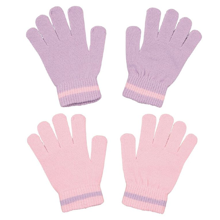 Young Original Kids' Stripe Detail Gloves, Pink, hi-res