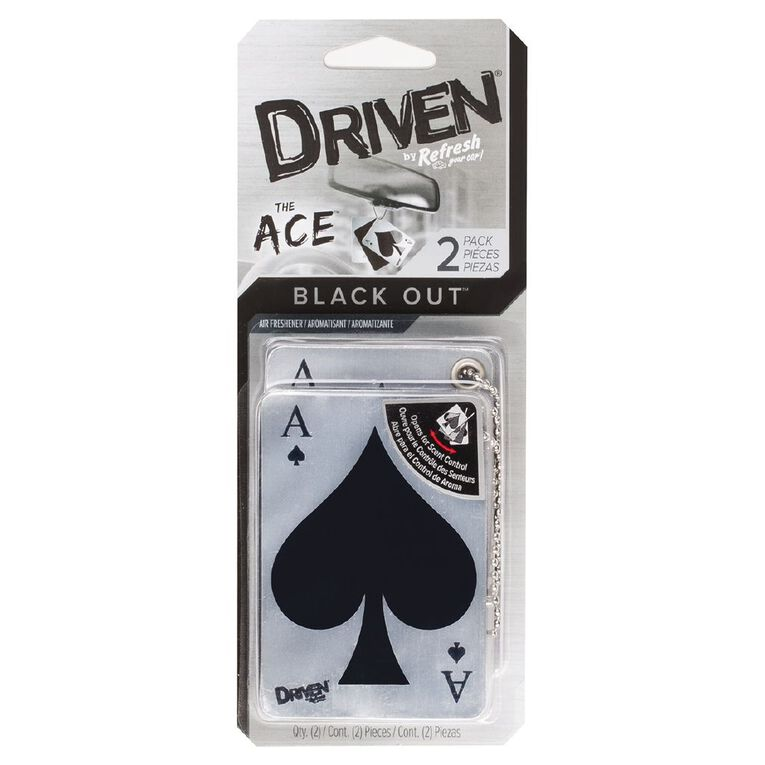 Refresh Your Car Driven Ace Auto Air Freshener Black Out 2 Pack, , hi-res