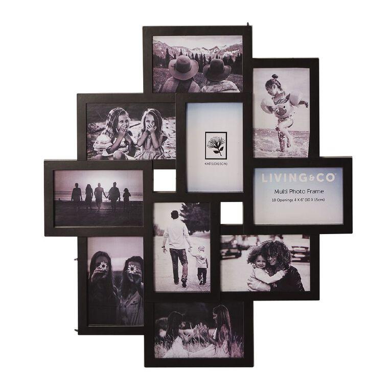 Living & Co Collage Frame 10 Opening Black, , hi-res
