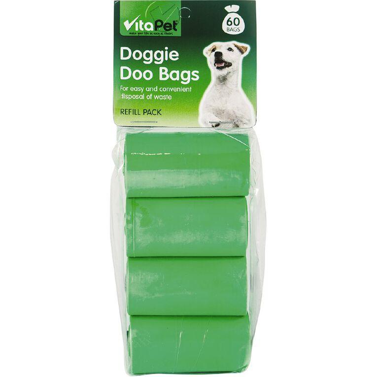 Vitapet Doggie Doo Refill Bags 60 Pack, , hi-res