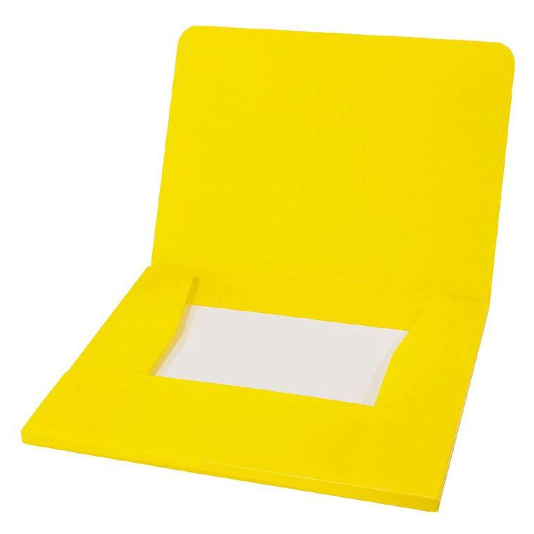WS Wallet PP Elastic Yellow A4, , hi-res