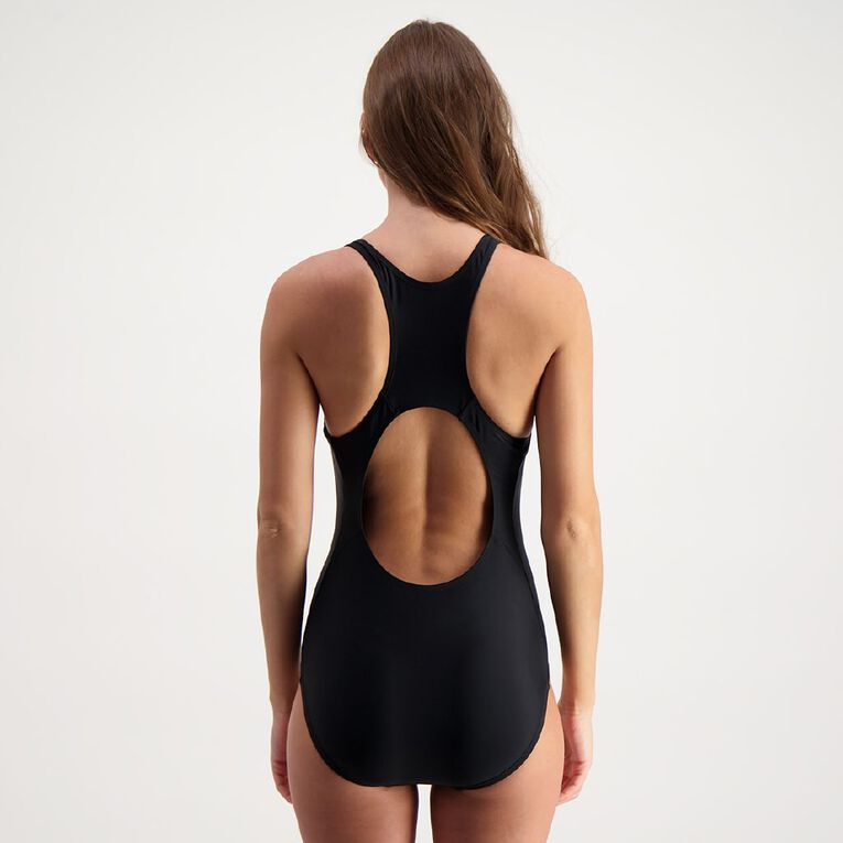 H&H Swim Women's Sport Training Swimsuit, Black, hi-res