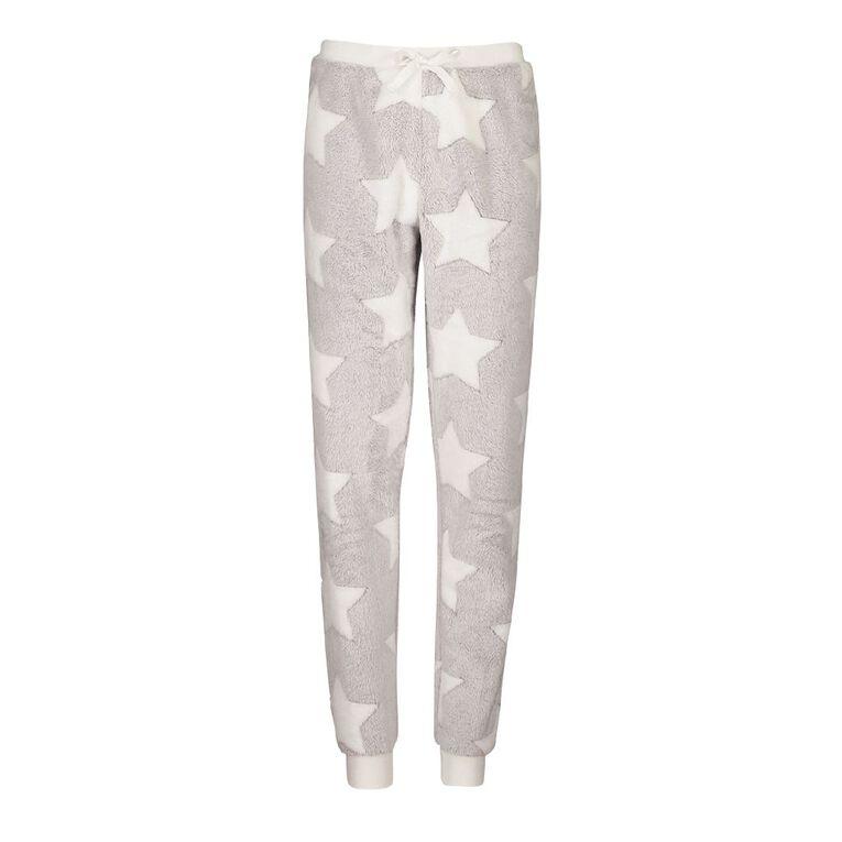 H&H Kids' Coral Fleece Star Pants, Grey, hi-res