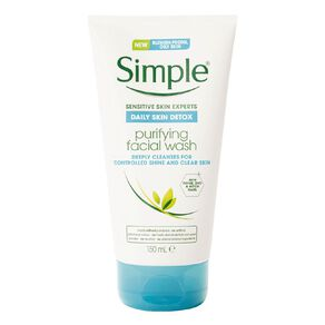 Simple Daily Skin Detox Purifying Facial Cleanser 150ml