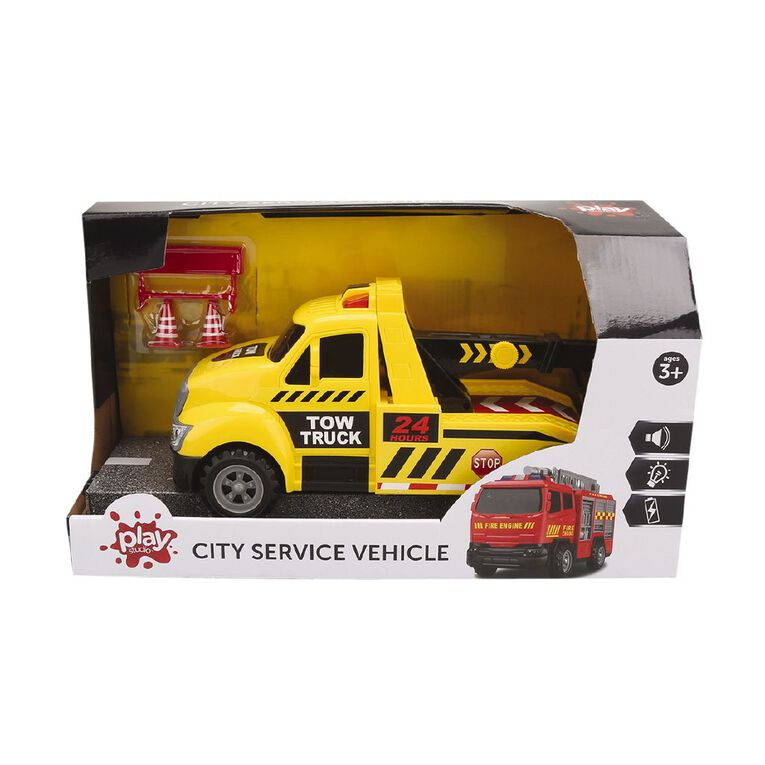 Play Studio Friction Power Tow Truck with Lights and Sounds, , hi-res