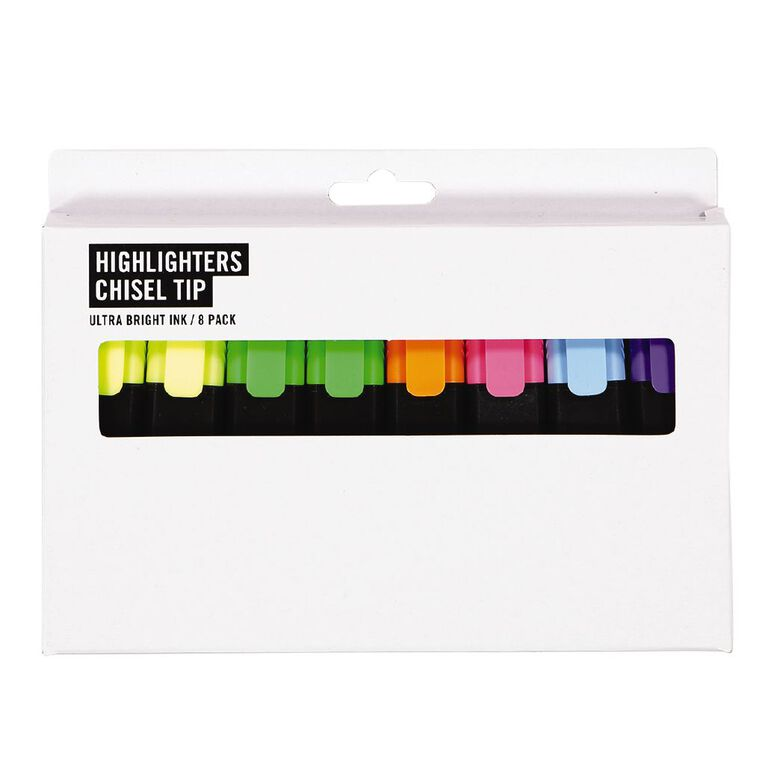 Highlighter Short Mixed Assortment 8 Pack, Mixed Assortment, hi-res image number null
