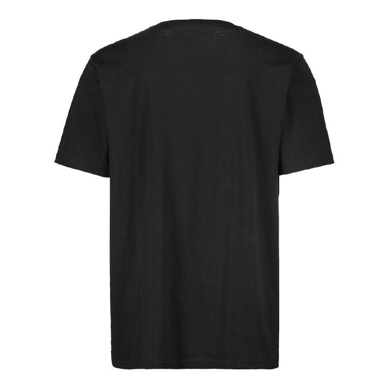 H&H Men's Crew Neck Short Sleeve Plain Tee, Black, hi-res