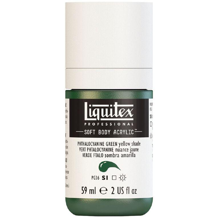 Liquitex Soft Body Acrylic 59ml Phthalo Green Yellow Shade S1, , hi-res