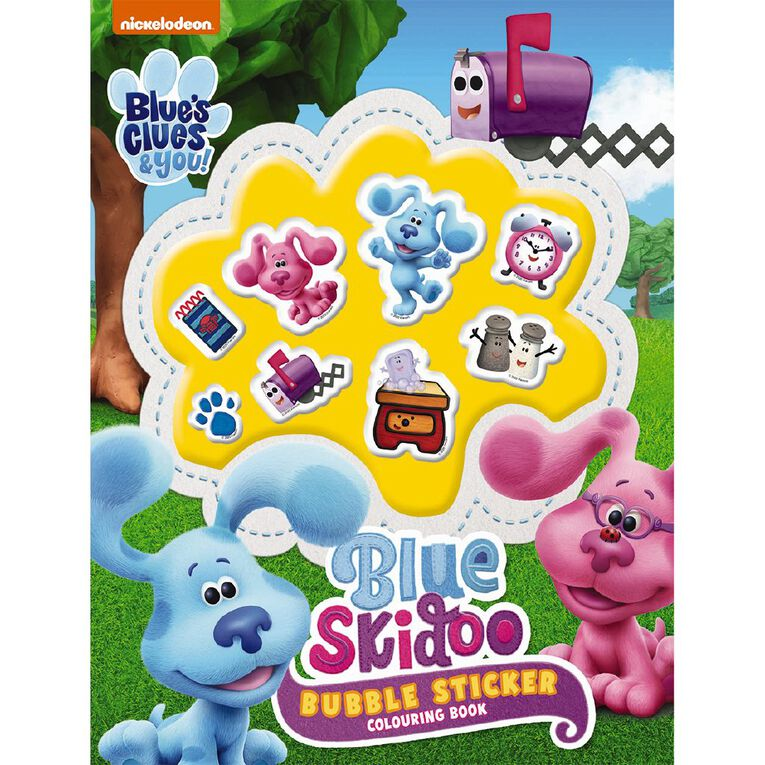 Blues Clues and You Bubble Sticker Colouring Book, , hi-res