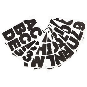 Uniti Alphabet Stickers Large Black