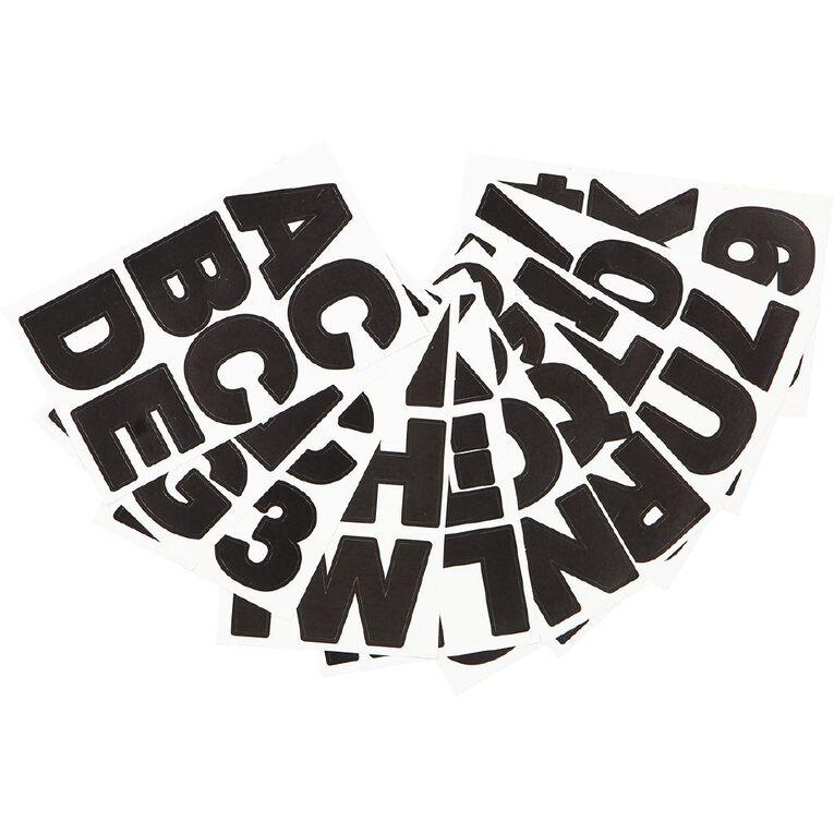 Uniti Alphabet Stickers Large Black, , hi-res