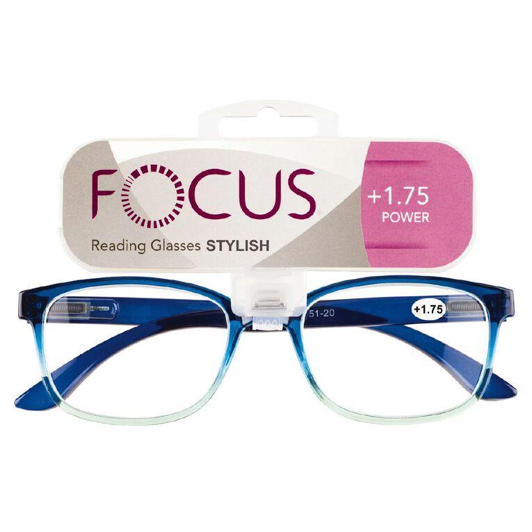 Focus Reading Glasses Stylish Power 1.75, , hi-res