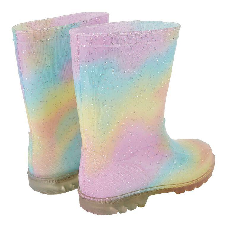 Young Original Rainbow Light Up Gumboots, Pink Light, hi-res