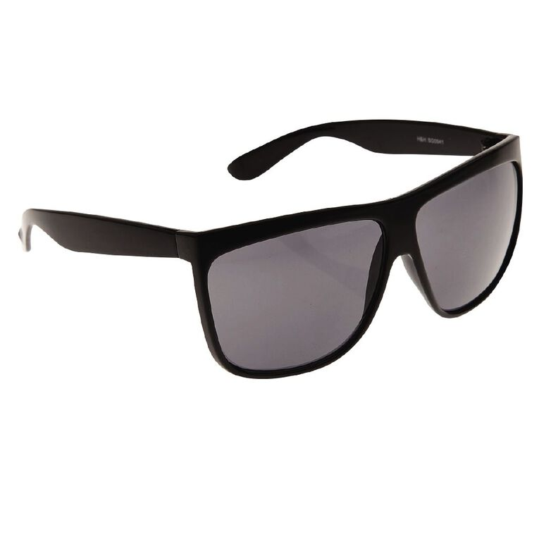 Beach Works Unisex Flat Top Sunglasses, Black, hi-res