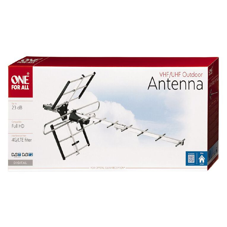 One for All Outdoor Antenna Professional 50km Amplified 10-12dB, , hi-res