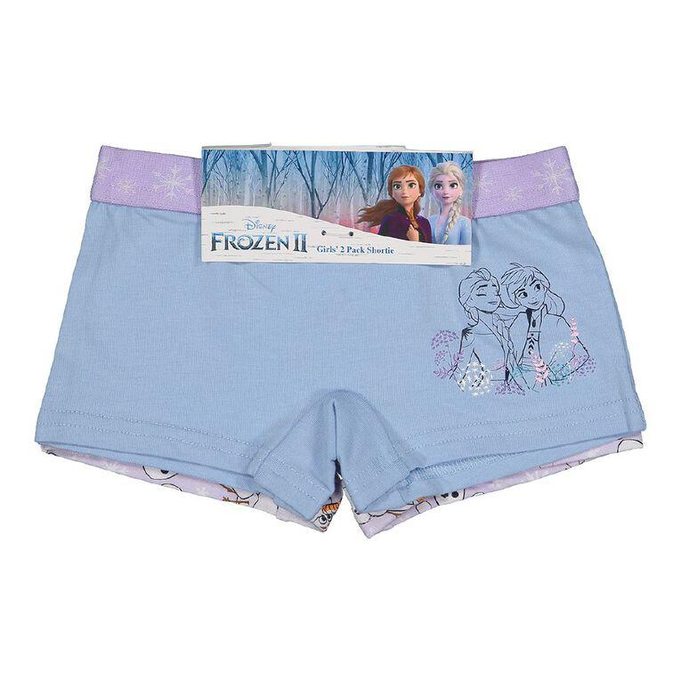 Frozen Girls' Shortie 2 Pack, Blue Light, hi-res