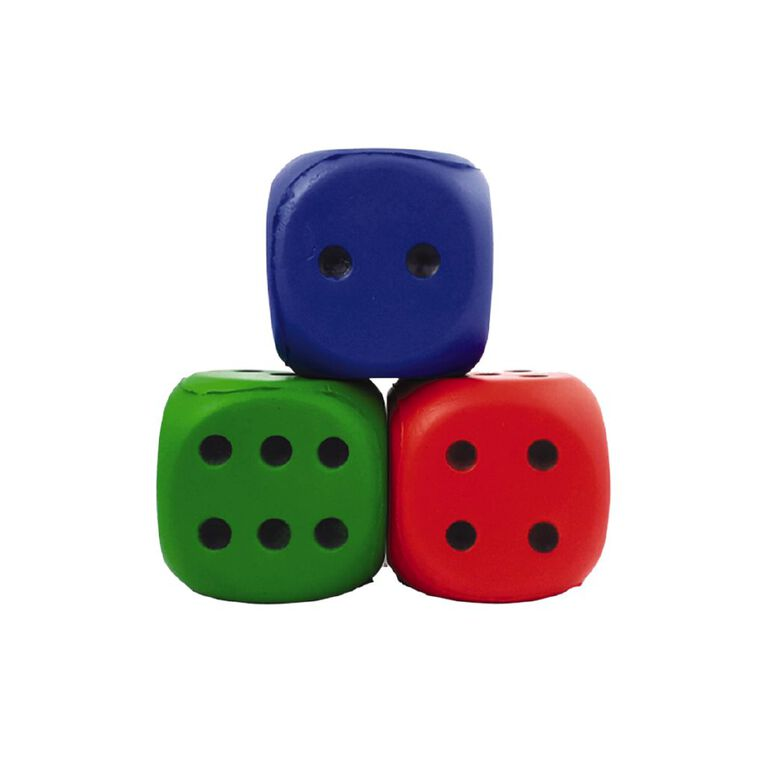 Learning Tool Box Dice Jumbo Squeeze 6cm Assorted Single, , hi-res