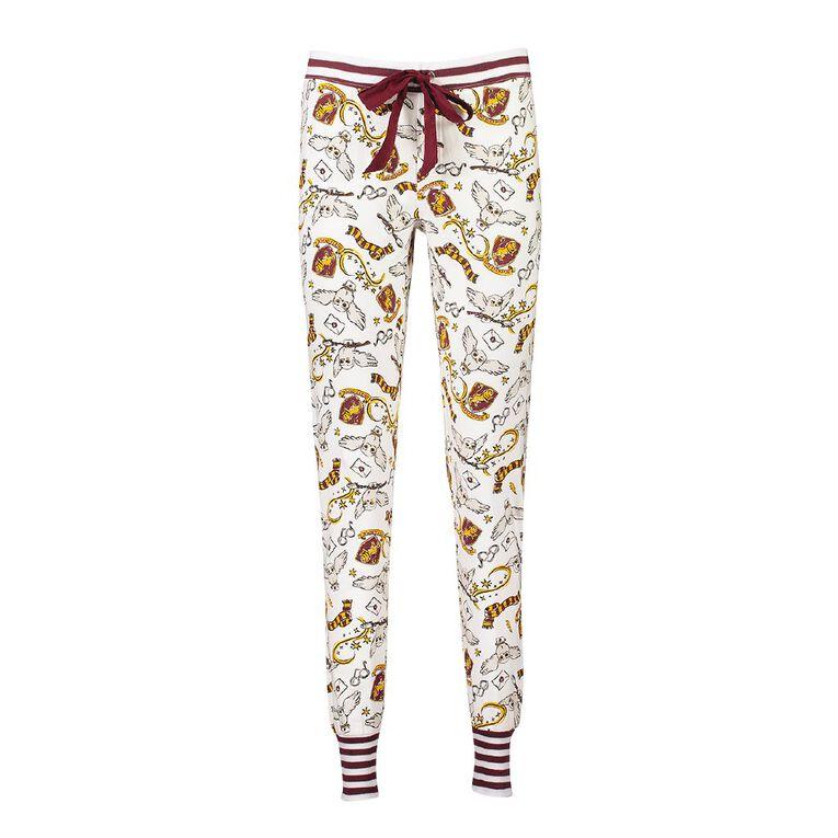 Harry Potter Warner Bros Women's Stretch Pyjama Pants, Burgundy, hi-res