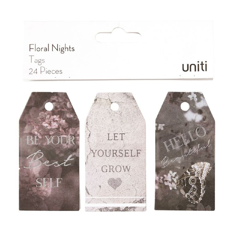 Uniti Floral Nights Tags 24pc, , hi-res