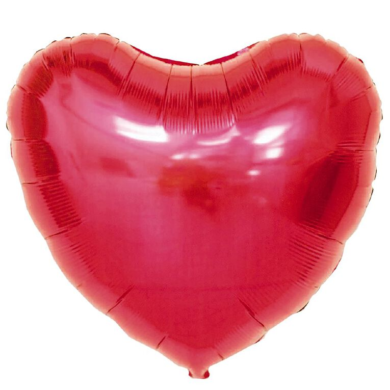 Foil Balloon Heart Shaped Red 45cm, , hi-res