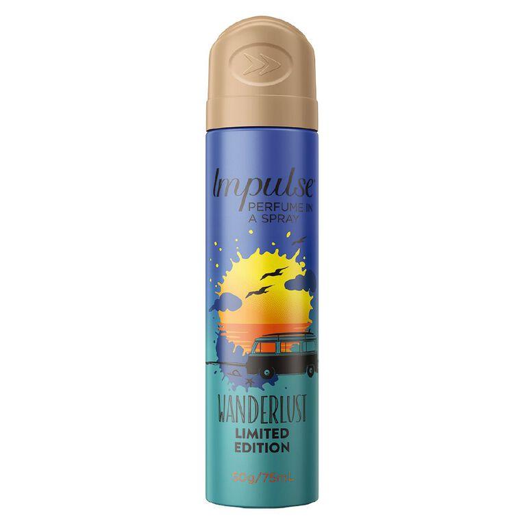 Impulse Body Spray Wanderlust 75ml, , hi-res