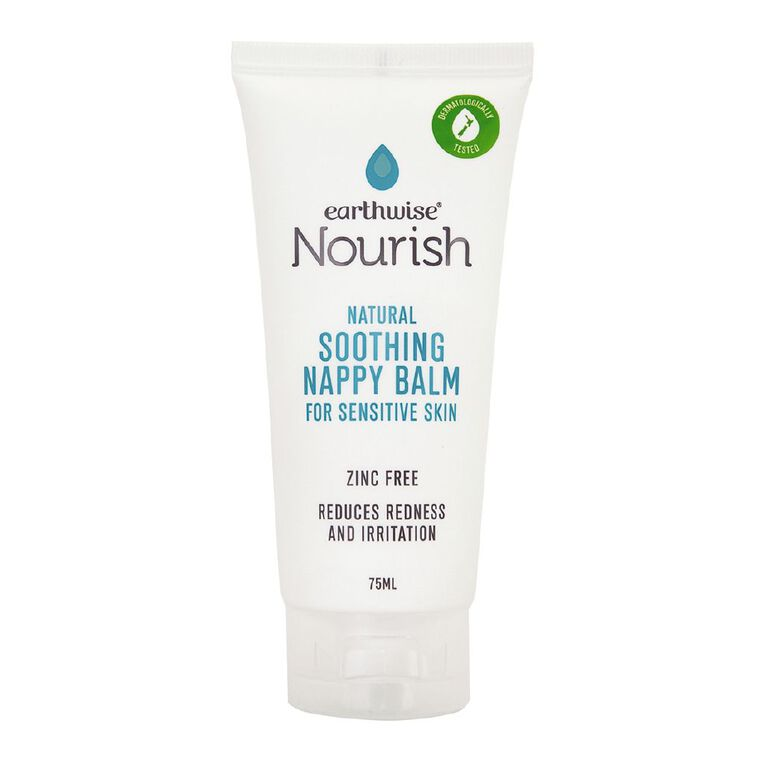 Earthwise Nourish natural soothing baby nappy balm 75ml, , hi-res