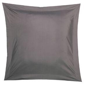 Living & Co Pillowcase Euro Cotton Rich 270 TC Charcoal 65cm x 65cm