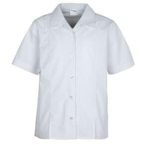 Schooltex Blouse Short Sleeve with Split Hem
