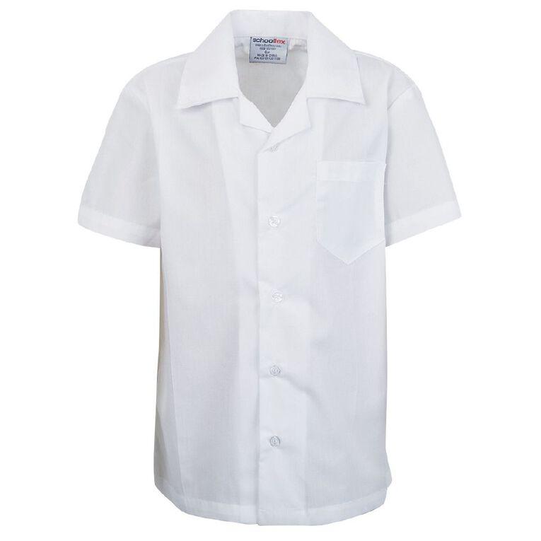Schooltex Short Sleeve School Shirt, White, hi-res