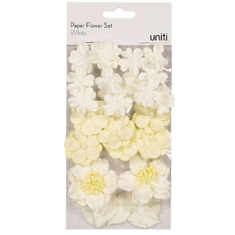 Uniti Paper Flower Set White, , hi-res