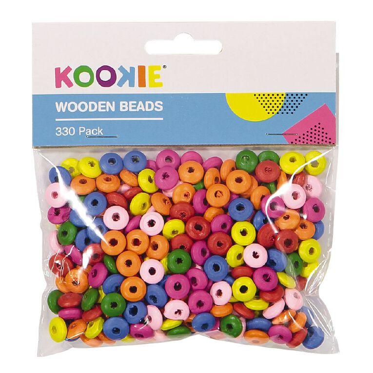 Kookie Wooden Beads Multi-Coloured 330 Pack, , hi-res image number null