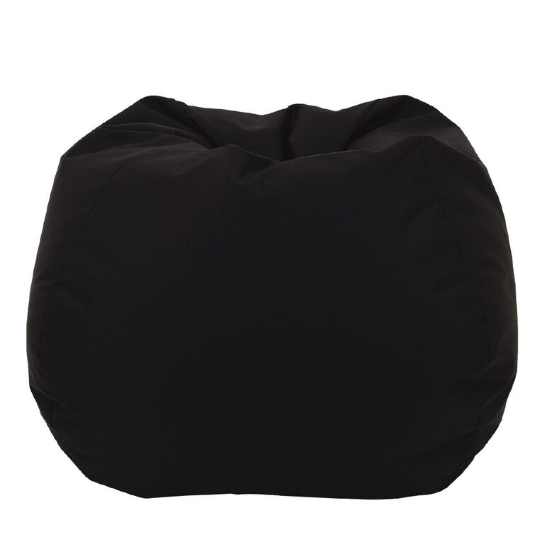 Living & Co Bean Bag Cover Black 200L, , hi-res