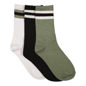 H&H Boys' Crew Socks 3 Pack