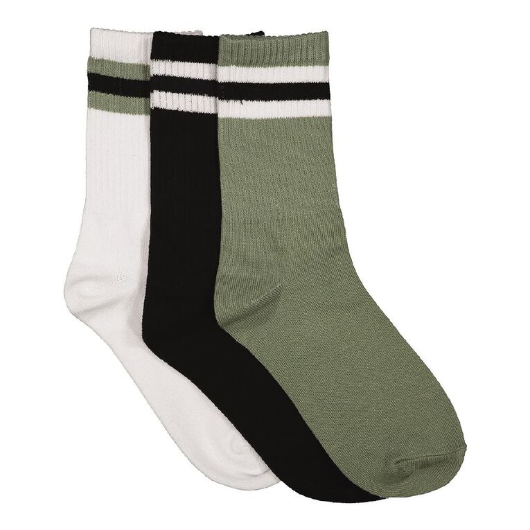 H&H Boys' Crew Socks 3 Pack, Navy, hi-res image number null