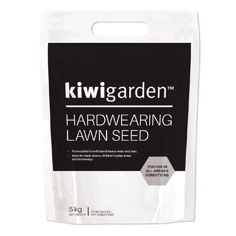 Kiwi Garden Hardwearing Lawn Seed 5kg, , hi-res