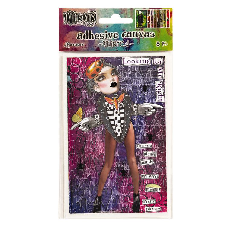 Ranger Dylusions Adhesive Canvas Printed Collection 2, , hi-res