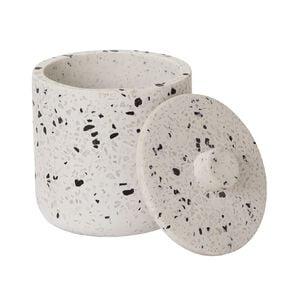 Living & Co Cotton Bud Holder Ceramic Terazzo 400ml