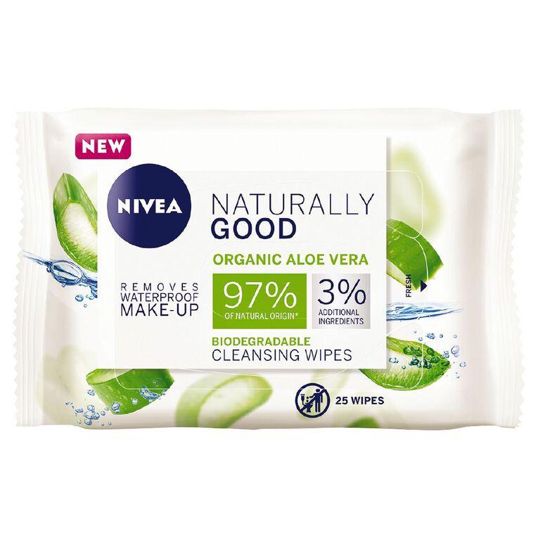 Nivea Naturally Good Facial Wipes 25 Pack, , hi-res