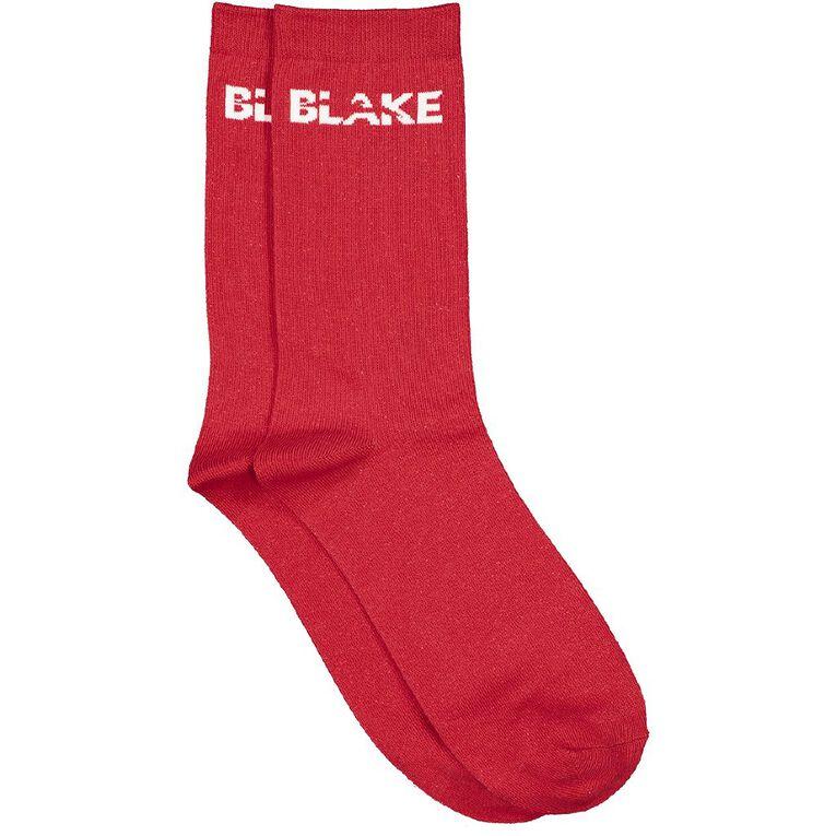 Red Socks BLAKE Socks 1 Pack, Red Mid, hi-res