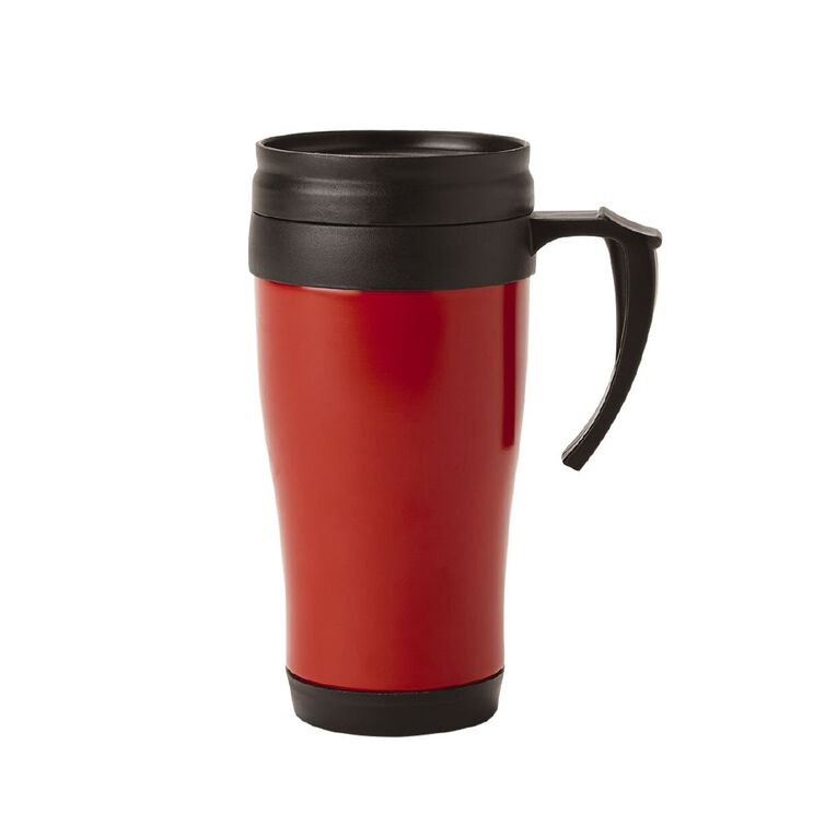 Living & Co Essential Stainless Steel Travel Mug Red 400ml, , hi-res